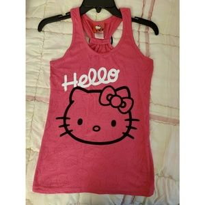 Hello Kitty Tank Top with Bow Accent
